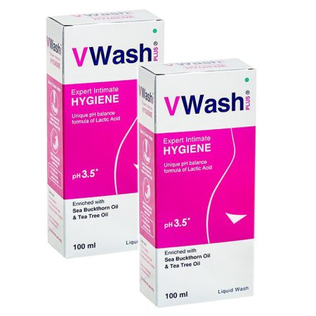 VWash Plus Intimate Hygiene Wash – 100 ml (Pack of 2)