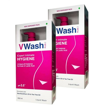 VWash Plus Intimate Hygiene Wash – 350 ml (Pack of 2)