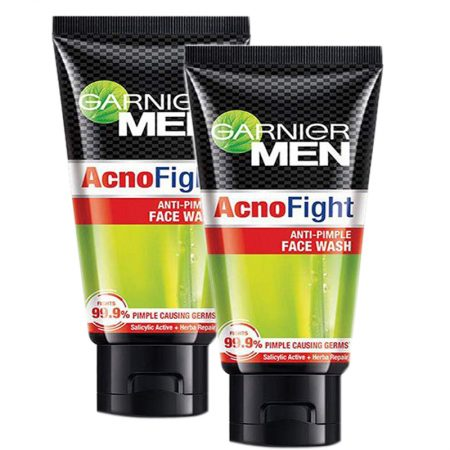 Garnier for Men AcnoFight Face Wash, 50gm (Pack of 2)