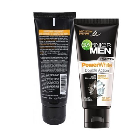 Garnier for Men Power White Face Wash, 50gm (Pack of 2)