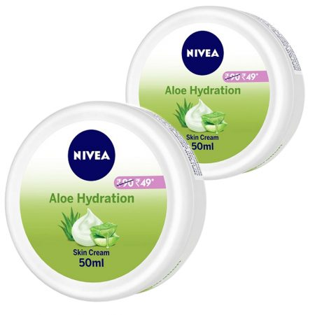 Nivea Aloe Moisturizing Crème, 50ml (Pack of 2)