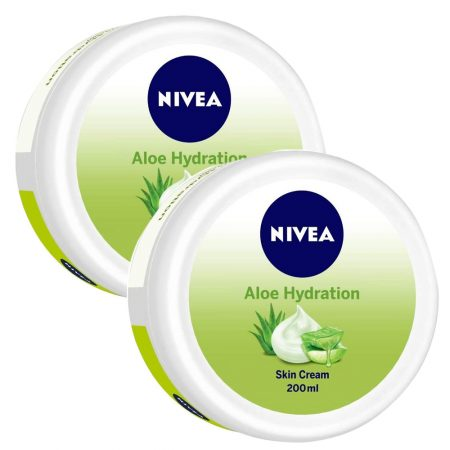 Nivea Aloe Moisturizing Crème, 200ml (Pack of 2)