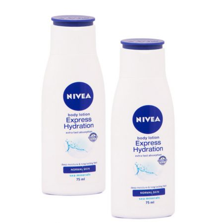 Nivea Body Express Hydration Lotion, 75ml (Pack of 2)