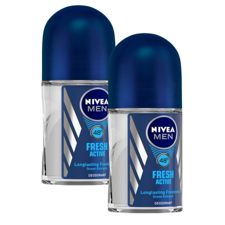 Nivea Deo Fresh Active Roll On, 50ml (Pack of 2)
