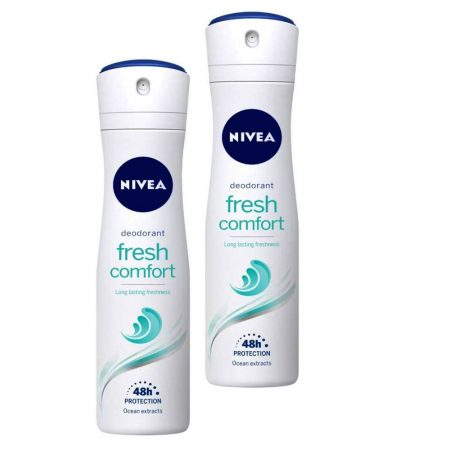 Nivea Fresh Comfort Clean Scent Deodorant Spray – 150 ml (Pack of 2)