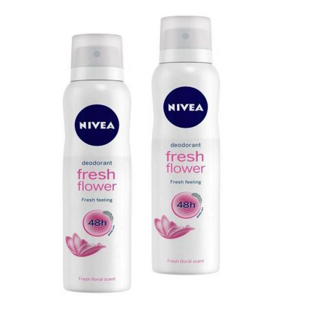 Nivea Fresh Flower Deodorant for Women Deodorant Spray -150 ml (pack of 2)