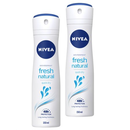 Nivea Fresh Natural Clean Scent Deodorant Spray 150 ml (Pack of 2)