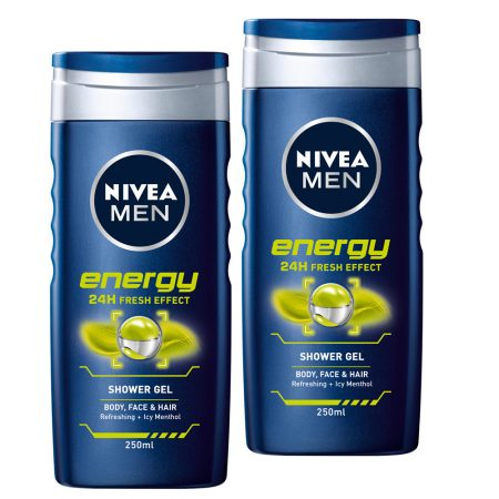 Nivea Men Energy Shower Gel 250ml (pack of 2)
