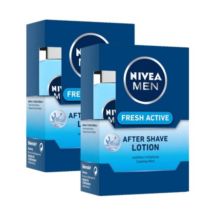 Nivea Men Fresh Active After Shave Lotion – 100 ml (Pack of 2)