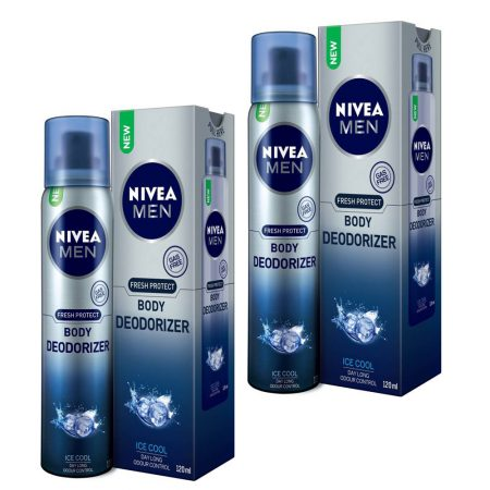 Nivea Men Fresh Protect Body Deodorizer Ice Cool, 120ml (Pack of 2)