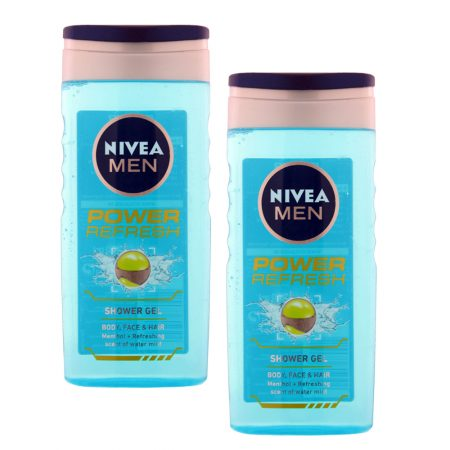 Nivea Men Power Refresh Shower Gel (250 ml) (Pack of 2)