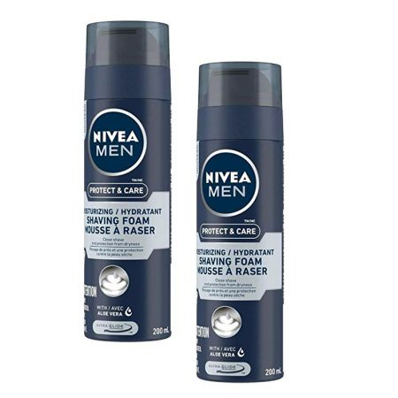 Nivea Men Protect and Care Moisturizing Shaving Foam with Aloevera – 200 ml (Pack of 2)