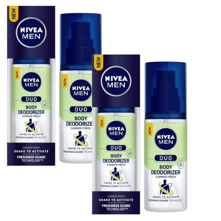 Nivea Men Summer Fresh Duo Body Deodorizers, 100ml (pack of 2)