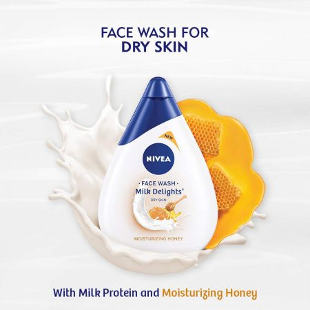Nivea Milk Delights Moisturizing Honey For Dry Skin Face Wash  100 ml (Pack of 2)