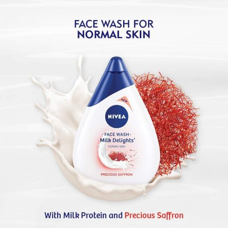 Nivea Milk Delights Precious Saffron For Normal Skin Face Wash  50 ml (Pack of 2)