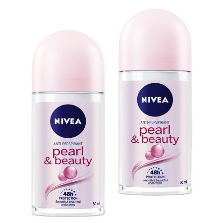 Nivea Pearl And Beauty Deodorant Roll On, 50ml (Pack of 2)