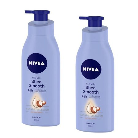 Nivea Shea Smooth Body Milk Lotion, 400ml (Pack of 2)