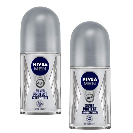 Nivea Silver Protect Deodorant Roll On For Men, 50ml (pack of 2)