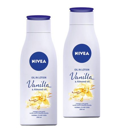 Nivea Vanilla and Almond Oil, 200ml (Pack of 2)