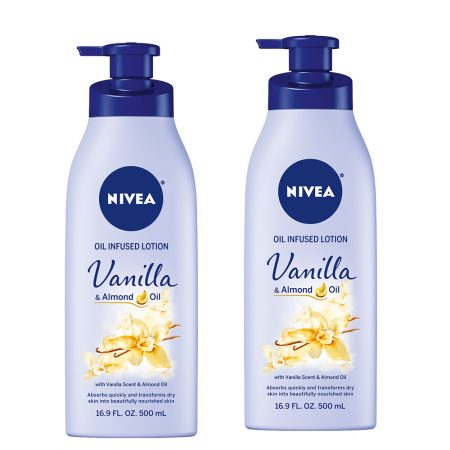 Nivea Vanilla and Almond Oil, 400ml (Pack of 2)