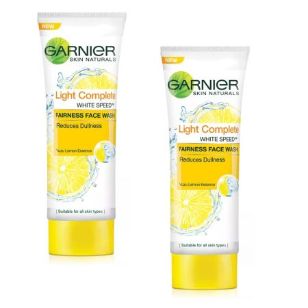 Garnier Skin Naturals, Light Complete Face Wash, 50g (Pack of 2)