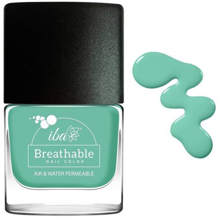 Iba Halal Care Breathable Nail Color, B19 Aqua Swirl, 9ml