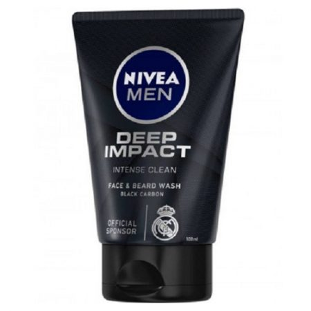 Nivea Deep Impact Face And Beard Wash For Men, 100ml