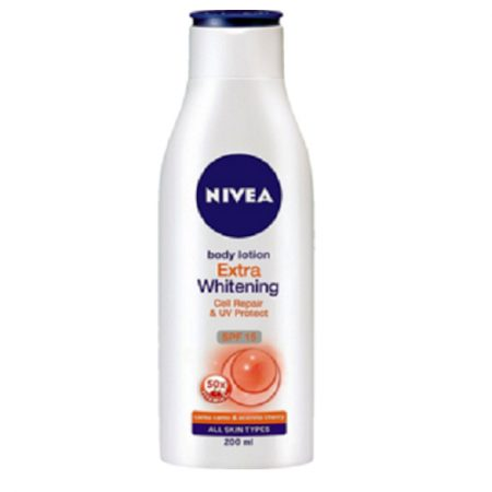 Nivea Extra Whitening Cell Repair Body Lotion, Spf 15, 200ml