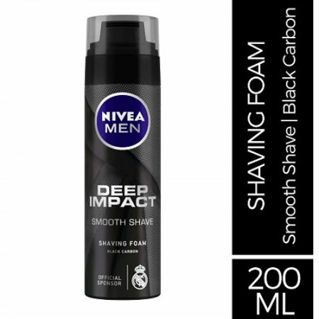 Nivea Men Deep Impact Smooth Shave Shaving Foam, 200ml