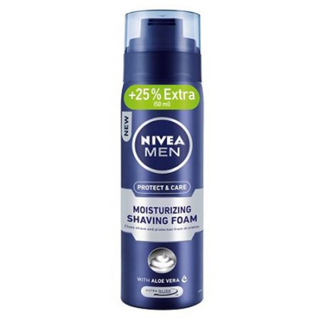 Nivea Men Protect and Care Moisturizing Shaving Foam with Aloevera – 200 ml