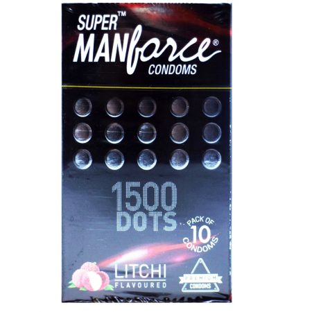 Manforce 1500 Dots Litchi Flavored Condoms- Pack of 10 Pieces