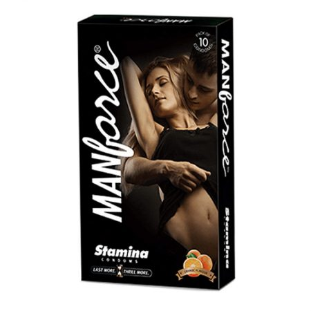 Manforce Orange Flavoured, Extra Dotted Condoms -10's