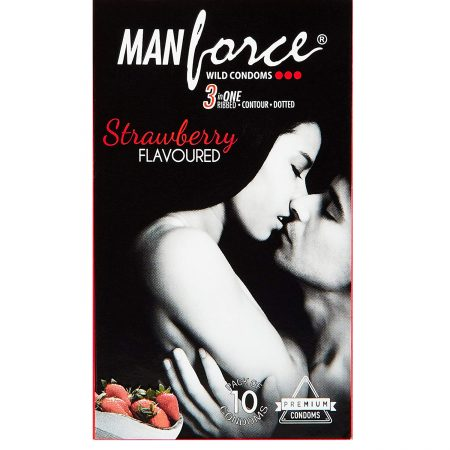 Manforce 10 S Strawberry Flavoured Condoms