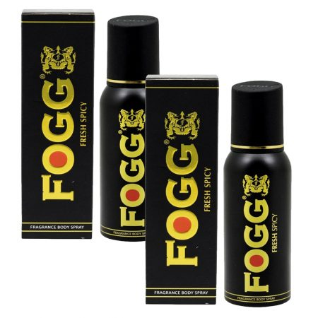Fogg Fresh Spicy Deodorant Spray – 120 ml (Pack of 2)