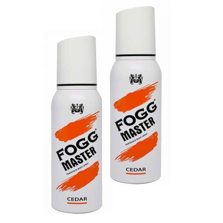 Fogg Master Cedar Body Spray For Men, 120ml (Pack of 2)
