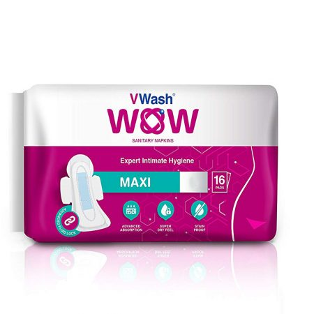 VWash Wow Sanitary Napkin Maxi–L, 5 Count