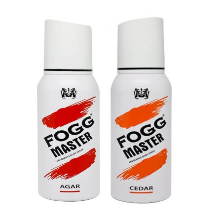 Fogg Master AGAR & CEDAR Body Spray For Men, 120ml (Pack of 2)