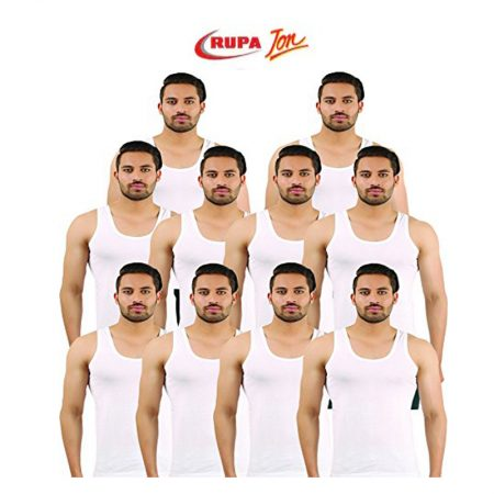 Rupa Jon White Sleeveless Vest 85cm (Pack of 10)