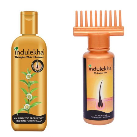 Indulekha Bhringa Hair Oil 100 ml + Shampoo, 200ml (Combo Pack)