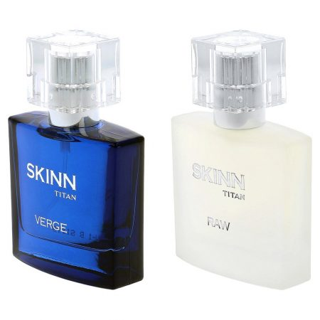Skinn by Titan  Eau de Perfume, Verge and Raw , 25ml (Pack of 2)