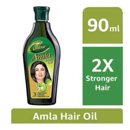 Dabur Amla Hair Oil for Long and Thick Hair 90ml