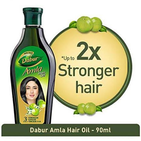 Dabur Amla Hair Oil for Long and Thick Hair 90ml pack of 2