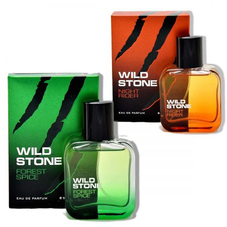 Wild Stone Forest Spice & Night Rider Eau De Parfum, 100ml (pack of 2)