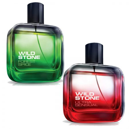 Wild Stone Forest Spice & Ultra Sensual Eau De Parfum 100ml (Pack of 2)