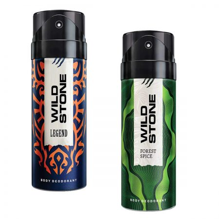 Wild Stone Legend & Forest Spice Body Deodorant, 150ml (Pack of 2)