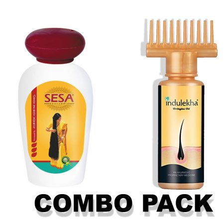Sesa Ayurvedic & Indulekha Bhringa Hair Oil Combo Pack(200ml+100ml)