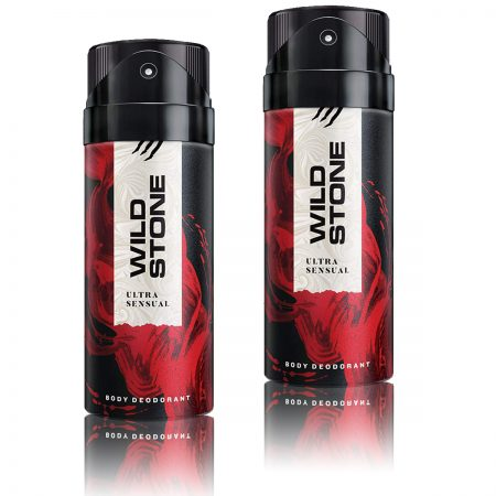 Wild Stone Ultra Sensual Body Deodorant 150ml (pack of 2)
