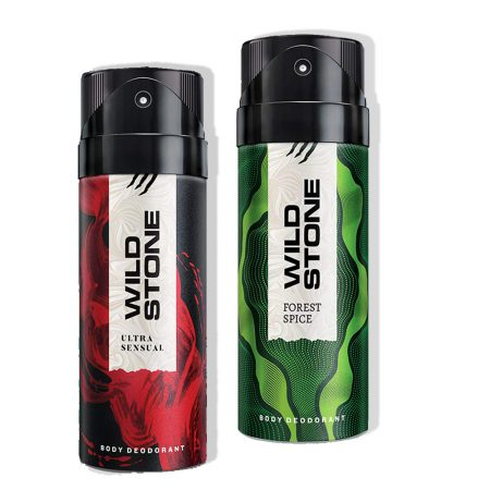 Wild Stone Ultra Sensual & Forest Spice Body Deodorant, 150ml (Pack of 2)