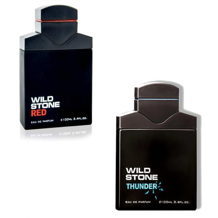 Wild Stone THUNDER  & RED Eau De Perfume 100ml (Pack of 2)
