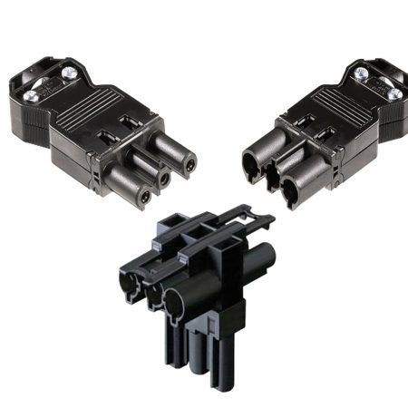 3 Pole GST Distributor and Male, Female Connector with 1 Input and 2 Output